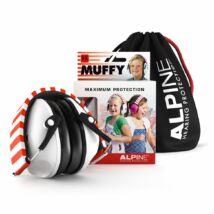 Füldugó Alpine Muffy gyermek hallásvédő fültok fehér, 2-6 éves korig