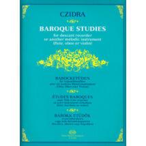 Czidra L.: Barokk etűdök szopránfurulyára