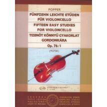 Popper D.: Tizenöt könnyű gyakorlat op. 76/1 (cselló/gordonka)