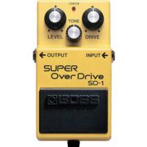 Boss SD-1 gitáreffekt pedál, super overdrive, csöves hangzás