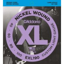 Daddario EXL190 040-100 - basszusgitár húrkészlet
