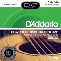 Daddario EXP23 - 016-070 western/ akusztikus gitárhúr készlet, bevonatos