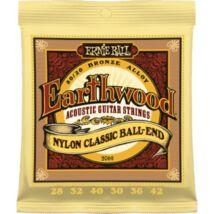 Ernie Ball Folk Nylon Clear & Gold Ball End klasszikus/western gitár húrkészlet