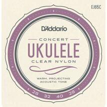 Daddario EJ65C Ukulele Clear Nylon - ukulele húrkészlet, koncert