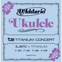 Daddario EJ87C Concert Ukulele Titanium - ukulele húrkészlet