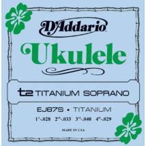 Daddario EJ87S Sopran Ukulele Titanium - ukulele húrkészlet