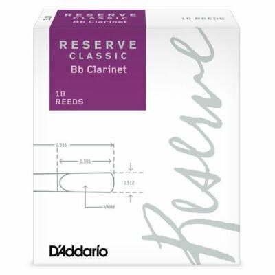 RICO klarinét nád, Reserve Classic Bb 3 (lila)