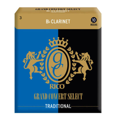 RICO Bb klarinét nád,Grand Concert Select traditional 3