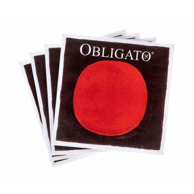 Hegedűhúr Pirastro Obligato készlet E acél, gombos