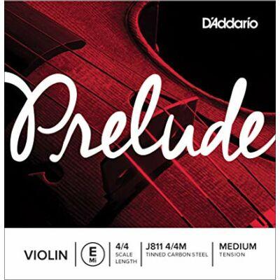 Hegedűhúr D'addario Prelude E medium (acél, ónbev.)