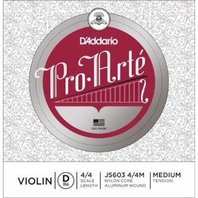 Hegedűhúr D'addario Pro Arte D (perlon, ezüstbev.) medium