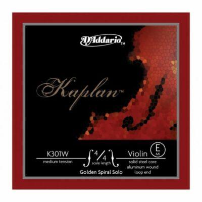 Hegedűhúr D'addario Kaplan Golden Spiral Solo E (alubev.)