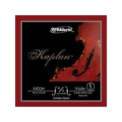 Hegedűhúr D'addario Kaplan Golden Spiral Solo acél hurkos E heavy