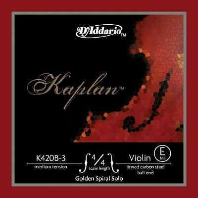Hegedűhúr D'addario Kaplan Golden Spiral Solo acél gombos E light