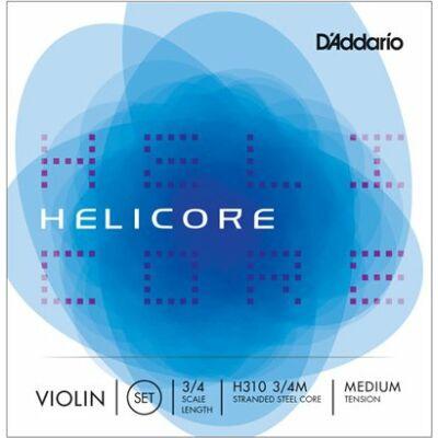 Hegedűhúr D'addario Helicore készlet 3/4 medium