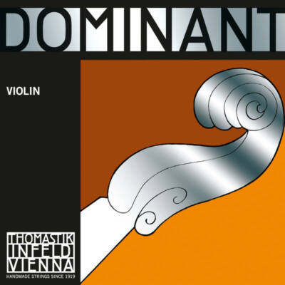 Hegedűhúr Thomastik Dominant E króm, gombos medium