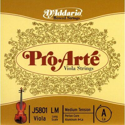 Brácsahúr D'addario Pro Arte A hosszú (perlon, alubev.)