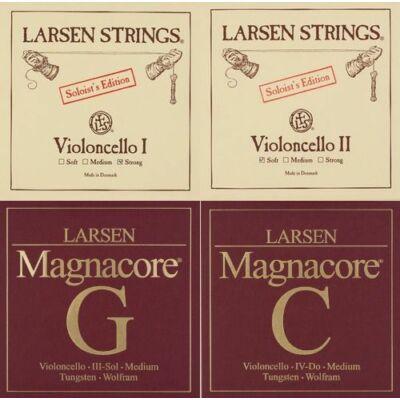 Csellóhúr Larsen Magnacore SOLO készlet, medium
