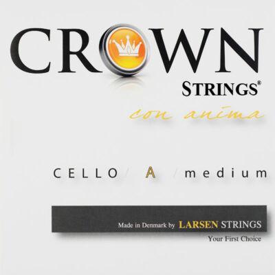 Csellóhúr Larsen Crown A króm, medium