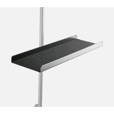 K&M tálca kottaállványra, alumíniumból, fekete (30 mm átmérőig)