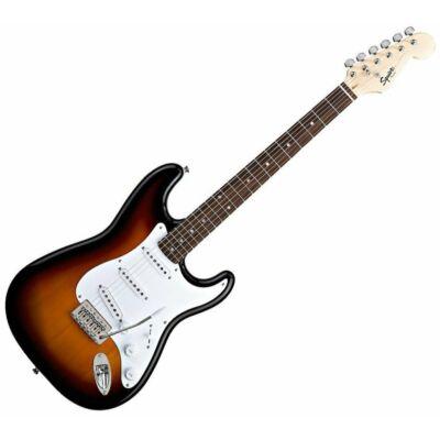 Fender SQ Bullet Stratocaster LRL elektromos gitár, Brown Burst