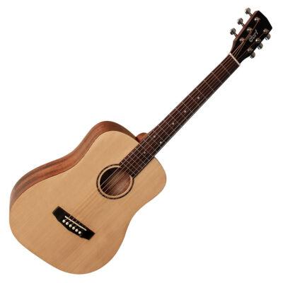 Cort ADMini-OP - mini akusztikus western gitár, fémhúros, matt natúr, tokkal