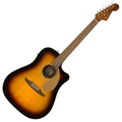 Fender California Redondo Player elektroakusztikus western gitár, fémhúros, sunburst