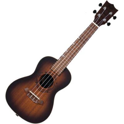 Flight koncert ukulele Amber - borostyán, Aquila húrral