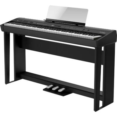 Roland FP-90X-BK - digitális zongora (jó orgona hangzással), állvánnyal