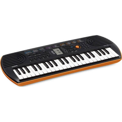 Casio SA-76 - gyermek szintetizátor, 44 billentyű, narancs