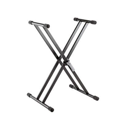 K&M szintetizátor állvány, alumínium, 2,6 kg - extra könnyű, x láb