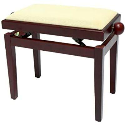 Gewa Pure zongorapad, matt mahagóni, bézs ülés, egyenes láb