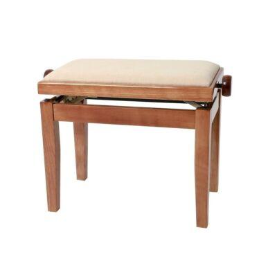 Gewa Deluxe zongorapad, lakk cseresznyefa, bézs ülés, egyenes láb