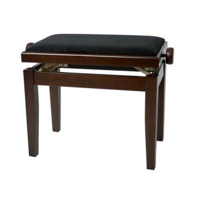 Gewa Deluxe zongorapad, matt dió, fekete ülés, egyenes láb