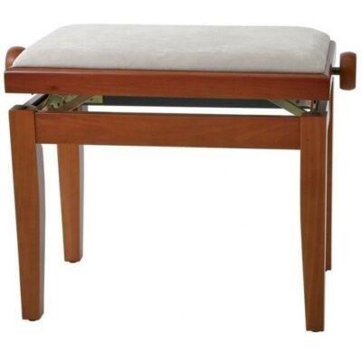 Gewa Deluxe zongorapad, matt cseresznye, fehér ülés, egyenes láb