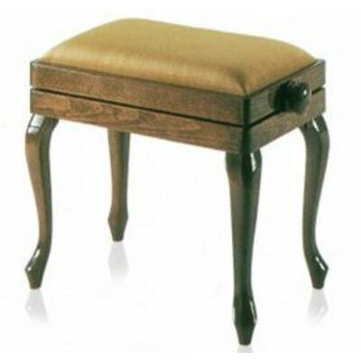 Discacciati zongorapad, hajlított láb, dió, bézs bársony ülés