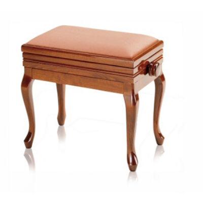 Discacciati zongorapad, hajlított láb, kottatartó bársony ülés