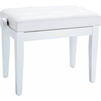 Roland zongorapad, zongoraszék, fehér, egyenes láb, állítható
