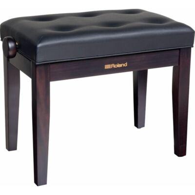 Roland zongorapad, zongoraszék, rózsafa, műbőr ülés, egyenes láb, ülés alatti kottatartóval