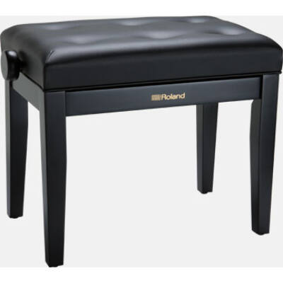 Roland zongorapad, fekete, fekete ülés, egyenes láb, állítható