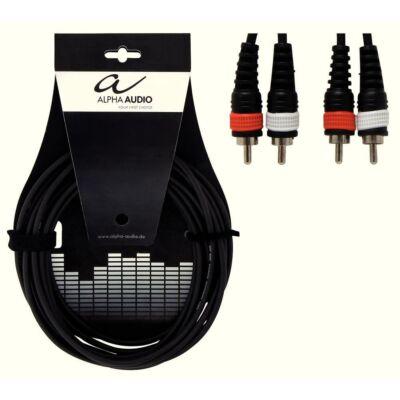 Alpha Audio Twin kábel, 3m, 2RCA/2RCA