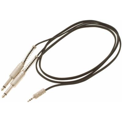 Bespeco BT550M Y-kábel, 1,5 m, 3,5 mm jack stereo/2 x 6,3 mm mono jack