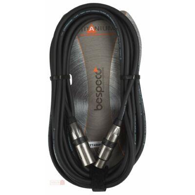 Bespeco TT450FM Titanium mikrofonkábel, XLR-XLR, 4,5 m