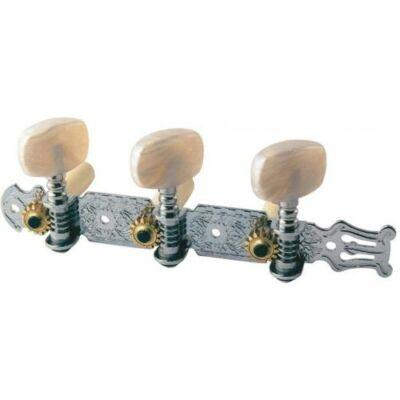 Fire & Stone klasszikus gitár kulcskészlet, lyrás,króm 9/35 mm