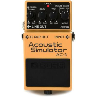 Boss AC-3 gitáreffekt pedál, akusztikus gitár-szimulátor
