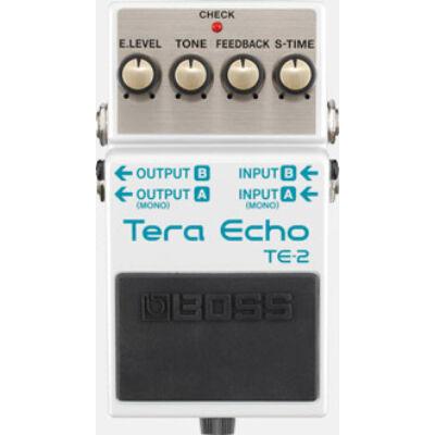 Boss TE-2 gitáreffekt pedál, tera echo, új generációs hangzás