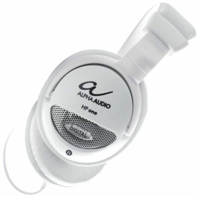 Alpha Audio HP One 170925- fejhallgató, fehér