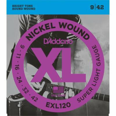 Daddario EXL120 9-42 Super Light - elektromos gitár húrkészlet