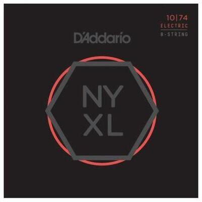 Daddario NYXL1074 Light Top/Hea Bot. 8 húros - elektromos gitár húrkészlet