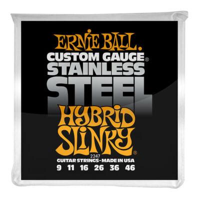 Ernie Ball 09-46 Stainless Steel Hybrid Slinky - elektromos gitár húrkészlet